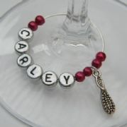 Hair Brush Personalised Wine Glass Charm